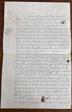 Manuscript signed document, four pages granting Power of Attorney by Charlotte LeBaron Hazen