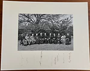 The 1960 Commonwealth Prime Ministers' Conference signed group photo of all 11 attendees