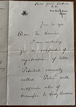 Manuscript letter from Lady Ishbel Aberdeen to Wilfrid Laurier
