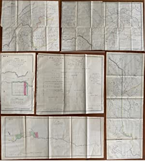 Quite scarce set of 6 maps defining the Québec, New Brunswick and Maine Boundaries and showing th...