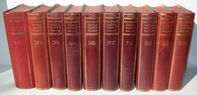 DICCIONARI CATALA-VALENCIA-BALEAR (10 vols.): ALCOVER, ANTONI Ma. - FRANCESC DE BORJA MOLL