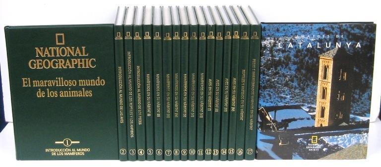 NATIONAL GEOGRAPHIC. EL MARAVILLOSO MUNDO DE LOS ANIMALES (17vols.) (obra completa) + regalo libro ...