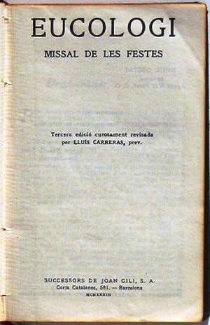 EUCOLOGI. Missal de les festes