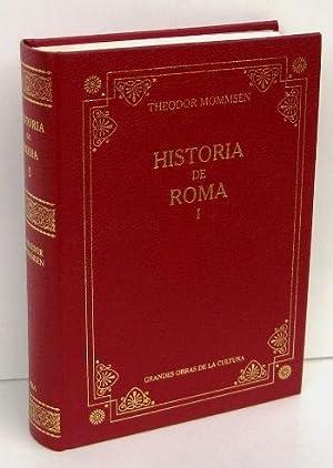 HISTORIA DE ROMA I (Libro Primero y: MOMMSEN, THEODOR