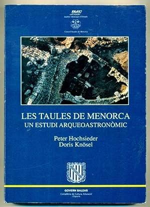LES TAULES A (de) MENORCA. Un estudi: HOCHSIEDER, PETER -