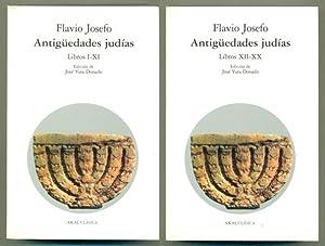 ANTIGuEDADES JUDIAS (2 vols.) tomo I (LIBROS: JOSEFO, FLAVIO