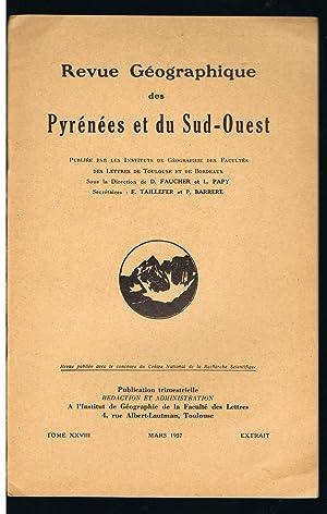pétrole PARENTIS par Henri ENJALBERT, Revue Géographique: ENJALBERT, Henri