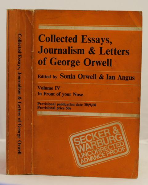 collected essays journalism letters george orwell first edition  collected essays journalism letters george orwell first edition abebooks