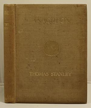 Anacreon, translated by: Stanley, Thomas