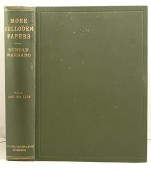More Culloden Papers Vol 1. 1626 - 1704: Warrand, Duncan