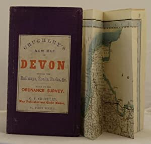 Cruchley's New Map of Devon shewing the railways, roads, parks, etc. based on the Ordnance Survey.