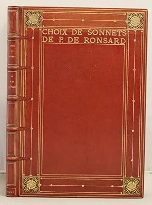 Choix de Sonnets de P. de Ronsard: Ronsard, Pierre