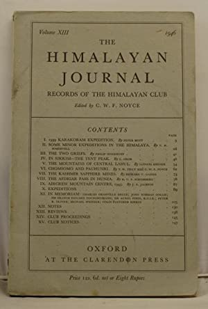 The Himalayan Journal records of the Himalayan club. Vol XIII, 1946