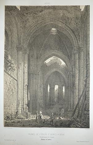 Ruines de l'église St Denys à Doué,: Wismes, Baron de