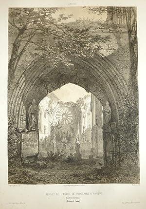 Ruines de l'église de Toussaint à Angers.: Wismes, Baron de