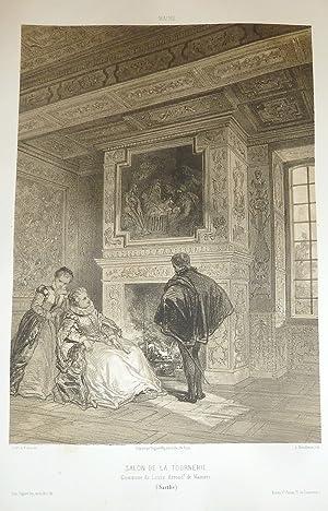 Salon de la Tournerie, commune de Louze,: Wismes, Baron de
