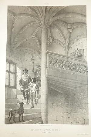 Escalier du château de Baugé (Maine et: Wismes, Baron de