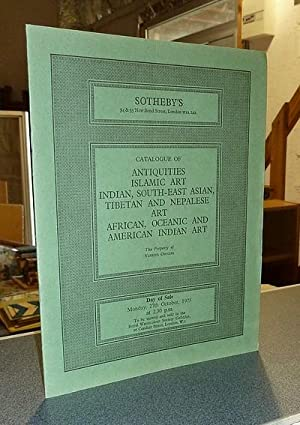 Catalogue of antiquities, islamic art, indian, south-east