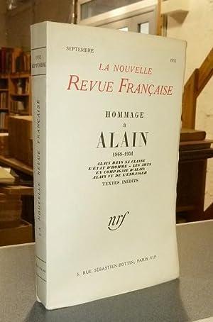 Hommage à Alain 1868-1951. Alain dans sa: Collectif