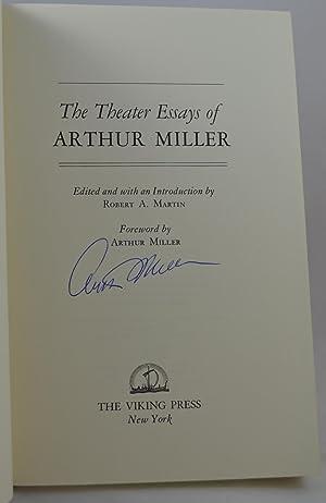 The theater essays of arthur miller