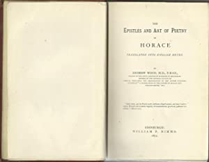 The Epistles and Art of Poetry of: Wood, Andrew: