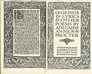 Legends and Lyrics and Other Poems.: Proctor, Adelaide Anne:
