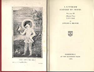 A Literary History of Persia, Volume IV: Browne, Edward Granville: