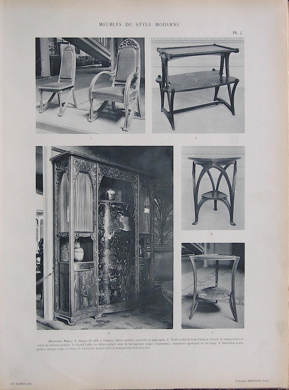 Meubles De Style Moderne Exposition Universelle De 1900 Sections  # Meubles Moderne