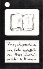 Encyclopeadia een film instalalatie van Ulises Carrion: Ulises Carrion