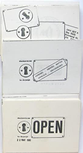 Directions to Use. Rubber stamp-show. 1980