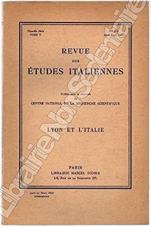 Lyon et l'Italie: Devoto Giacomo -