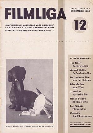 FILMLIGA. 1933, nr. 12.: Jordaan,L.J./ Gerard H.
