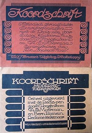 Koordschrift. Moderne Toepassingen./ Koordschrift. Methodisch gerangschikte schrijfoefeningen.: Moerman, A.S. -
