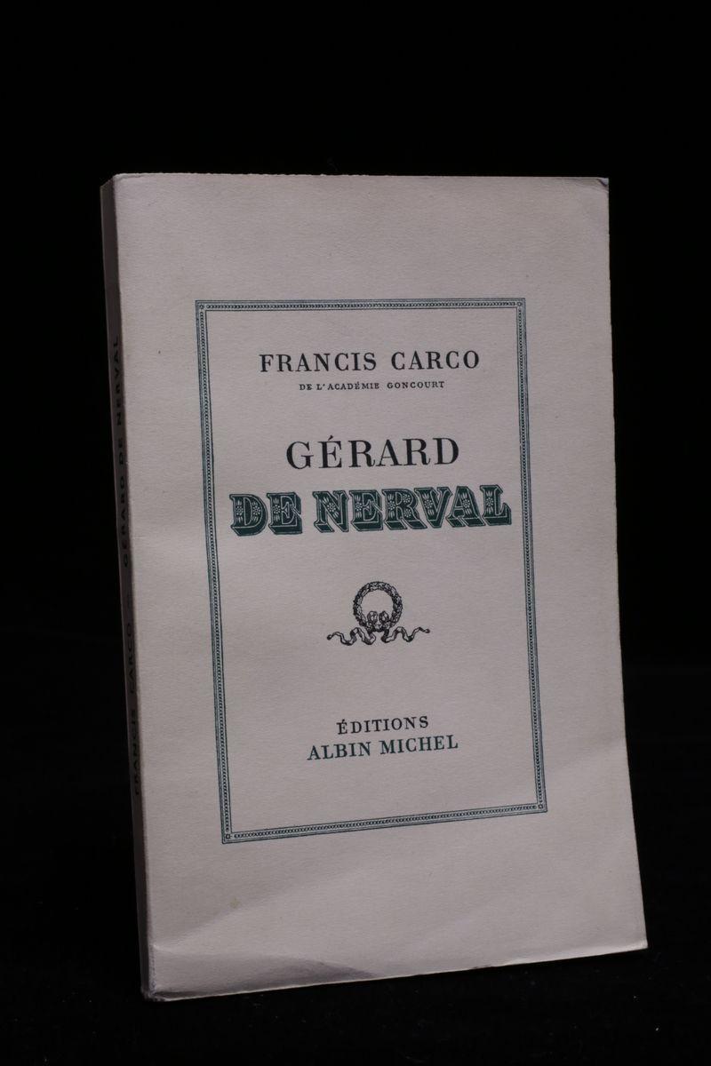 Gérard de Nerval CARCO Francis [ ] [Softcover] (bi_14589568518) photo