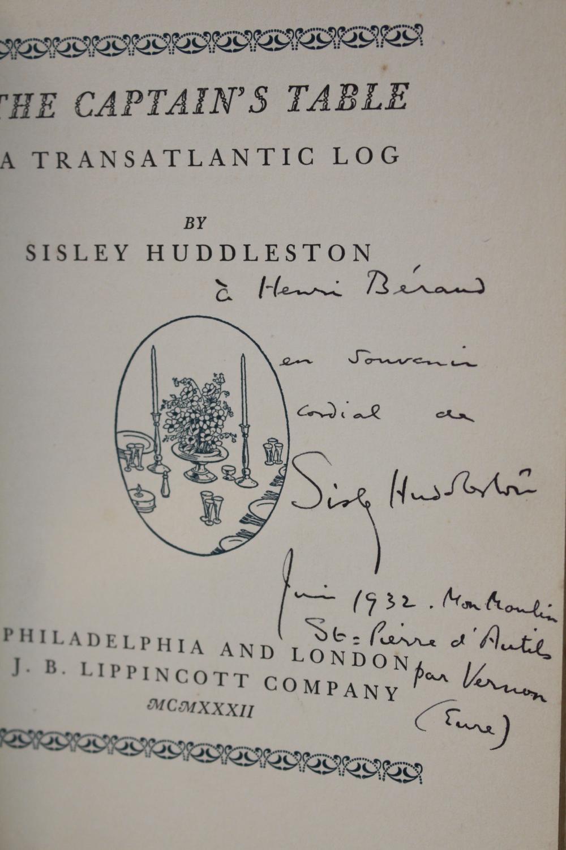 The_captains_table_A_transatlantic_log_HUDDLESTON_Sisley___Couverture_rigide