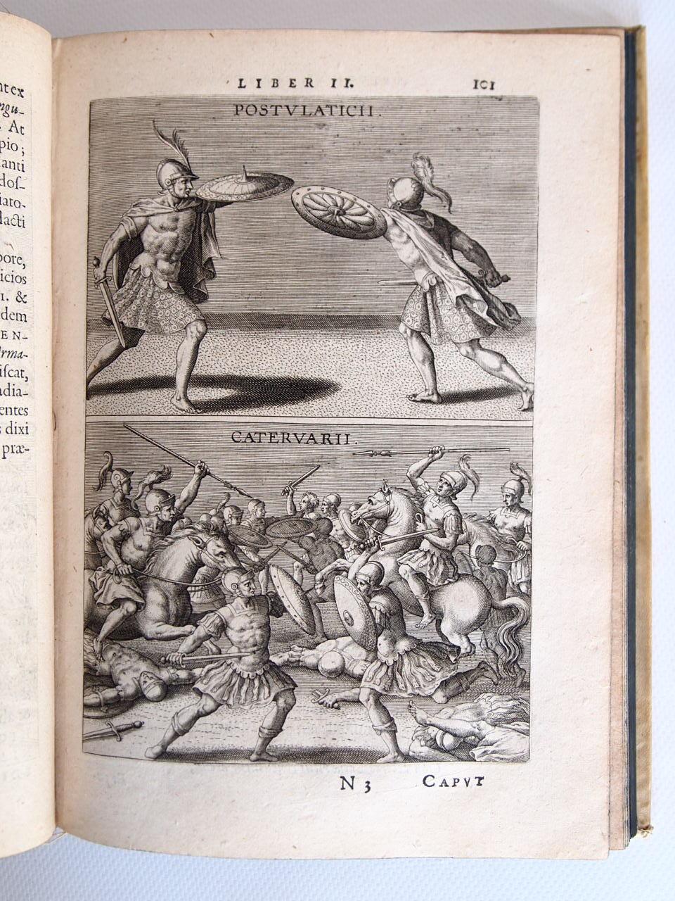 Saturnalium sermonum, libri duo, qui de gladiatoribus [Ensemble] Philippi Rubeni Electorum libri II. In quibus antiqui ritus, emendationes, centurae.
