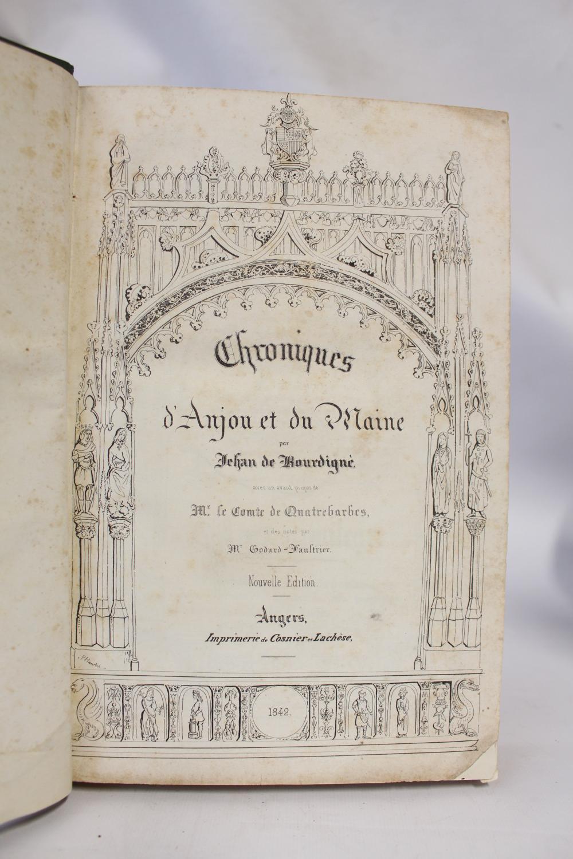 Chroniques d'Anjou et du Maine BOURDIGNE Jean de Hardcover