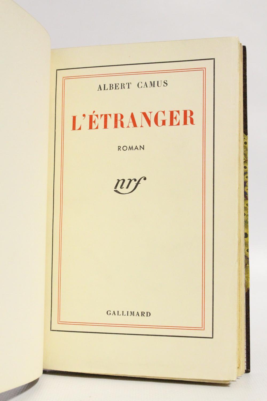 587e8c1595e L Etranger par CAMUS Albert  Gallimard Couverture rigide - Librairie ...