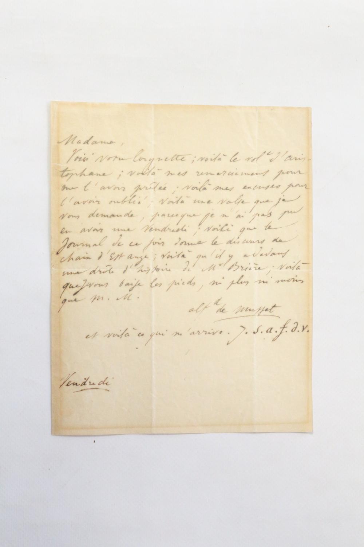 Lettre_autographe_inédite_signée_à_Madame_Jaubert__Et_voilà_ce_qui_marrive_J_s_a_f_d_v_Je_suis_amoureux_fou_de_vous_MUSSET_Alfred_de__