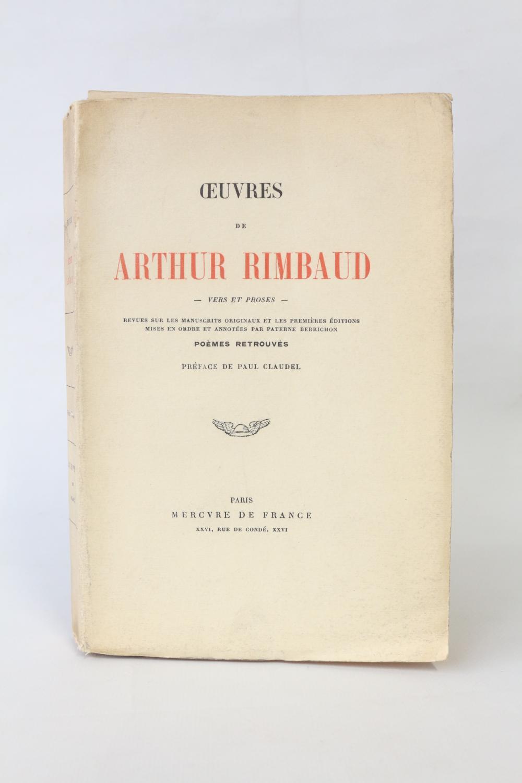 Oeuvres Vers Et Proses De Rimbaud Arthur Mercure De France