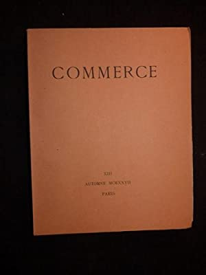 Commerce. Automne 1927 - Cahier XIII: VALERY Paul &