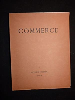 Commerce. Automne 1925 - Cahier V