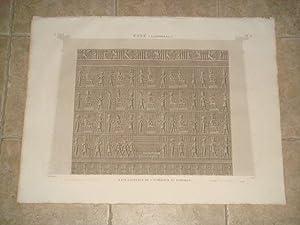DESCRIPTION DE L'EGYPTE. Esné (Latopolis). Face latérale: JOLLOIS Jean-Baptiste Prosper