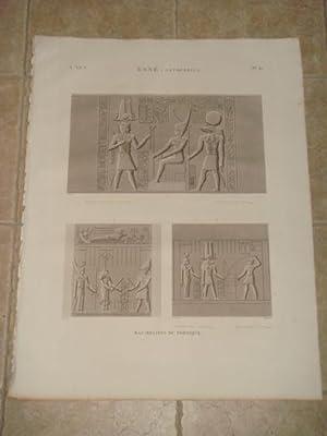 DESCRIPTION DE L'EGYPTE. Esné (Latopolis). Bas-reliefs du: BALZAC Charles-Louis &