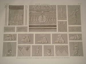 DESCRIPTION DE L'EGYPTE. Esné (Latopolis). Détails d'architecture,: DUTERTRE & JOLLOIS