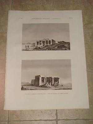 DESCRIPTION DE L'EGYPTE. Environs d'Esné (Latopolis). Vue: JOLLOIS Jean-Baptiste Prosper