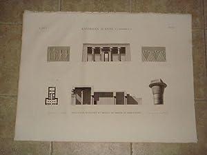 DESCRIPTION DE L'EGYPTE. Environs d'Esné (Latopolis). Plan,: CHABROL & JOLLOIS