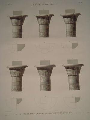 DESCRIPTION DE L'EGYPTE. Esné (Latopolis). Plans et: JOLLOIS Jean-Baptiste Prosper