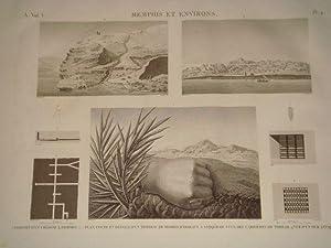 DESCRIPTION DE L'EGYPTE. Memphis et environs. Poignet: JOMARD Edme-François &