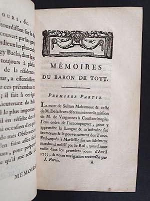 Mémoires du Baron de Tott, sur les: TOTT François de